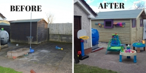 BEFORE & After Shed