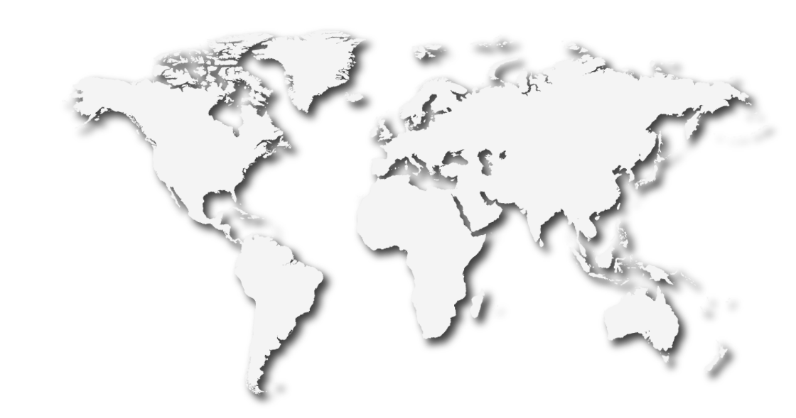 Map of the world showing locations of some BPE projects